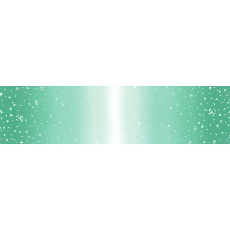 Ombre Bloom - Teal Yardage