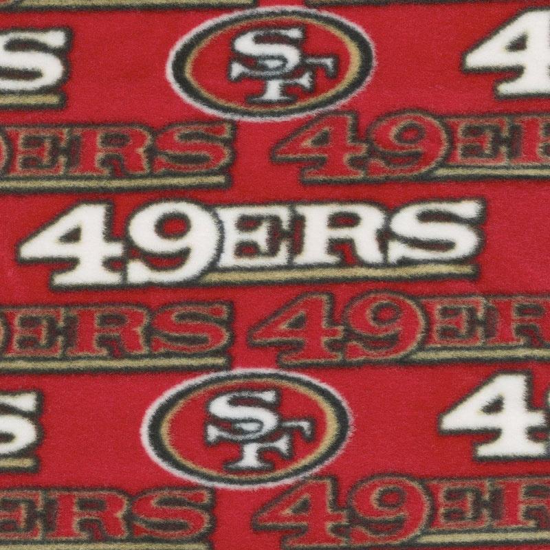 NFL Fleece - San Francisco 49ers Red Yardage