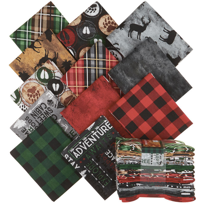 Cabin Welcome Flannel Fat Quarter Crystals
