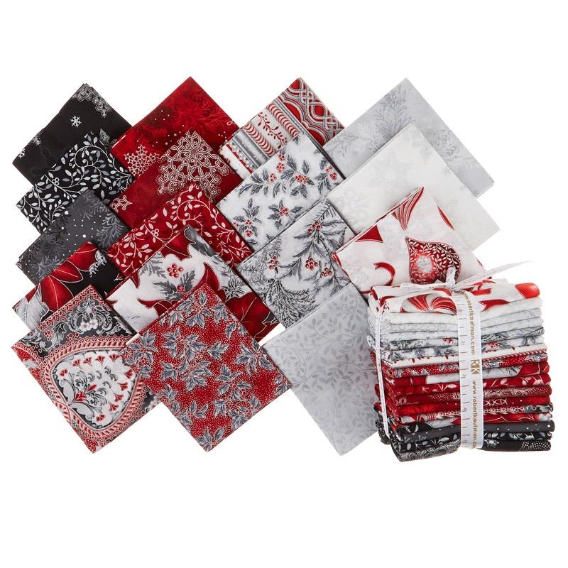 Holiday Flourish 10 Scarlet Metallic Fat Quarter Bundle