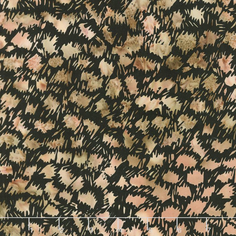 Wild Things Batiks - Cheetah Walnut Yardage