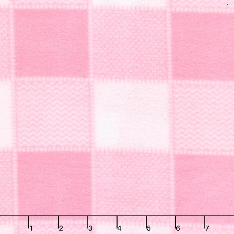 Winterfleece Prints Children - Plaid Pink Fleece Yardage