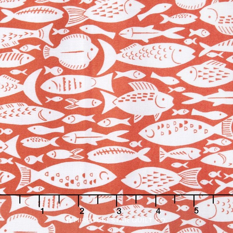 Marina - Fishes Orange Yardage