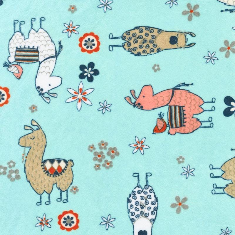 Cuddle Prints No Prob Llama Aruba 60 Quot Minky Yardage