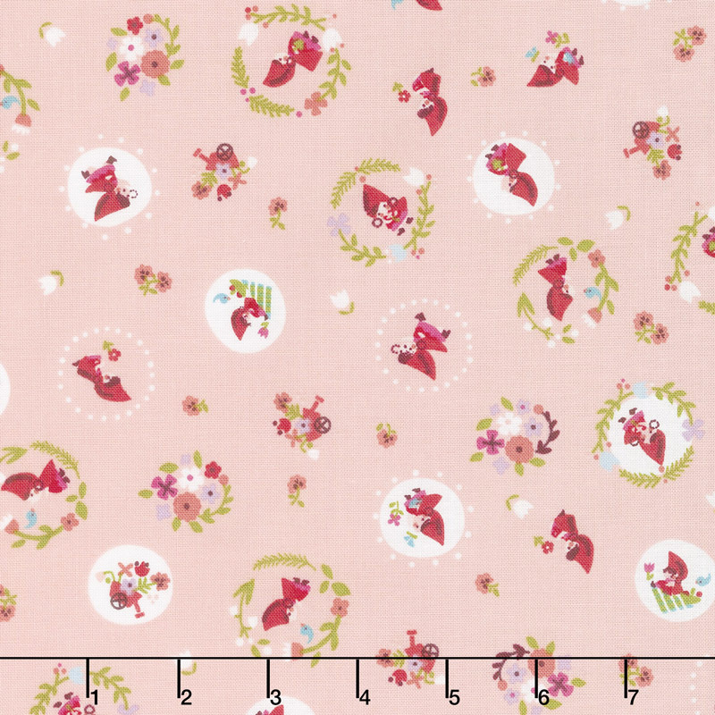 Little Red in the Woods - Toss Pink Yardage
