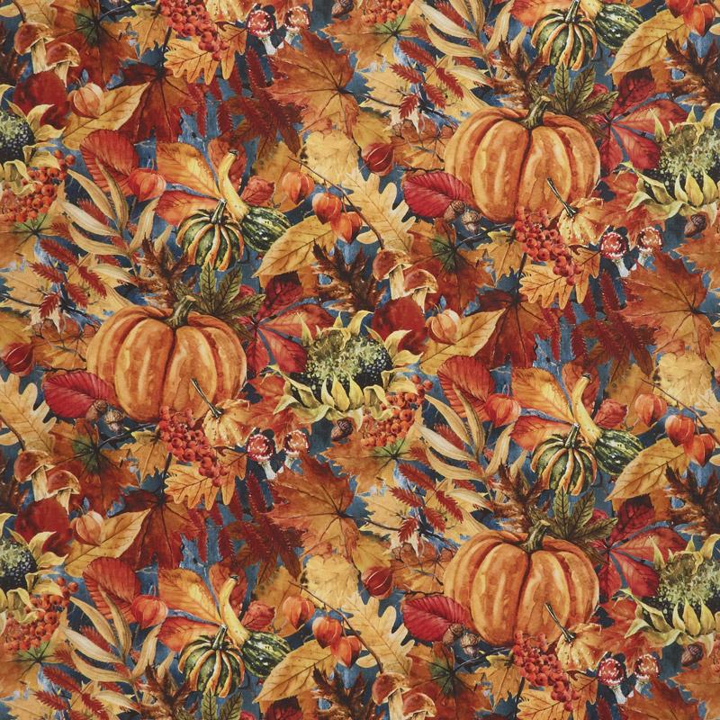 Our Autumn Friends - Pumpkin Patch Gray Yardage