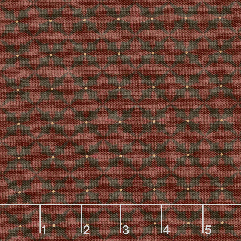 Wit & Wisdom - Trumpet Flower Red Yardage