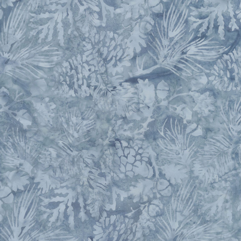 Icicle Batiks - Pine Leaf Chambray Yardage