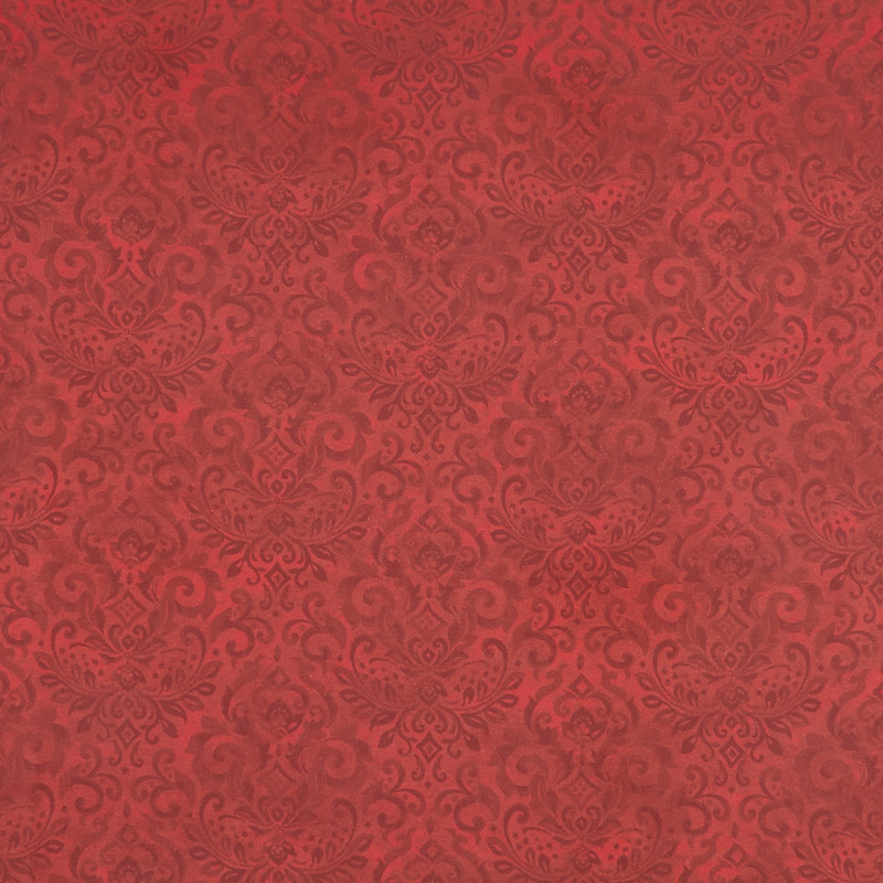 Deck the Halls - Damask Red Yardage