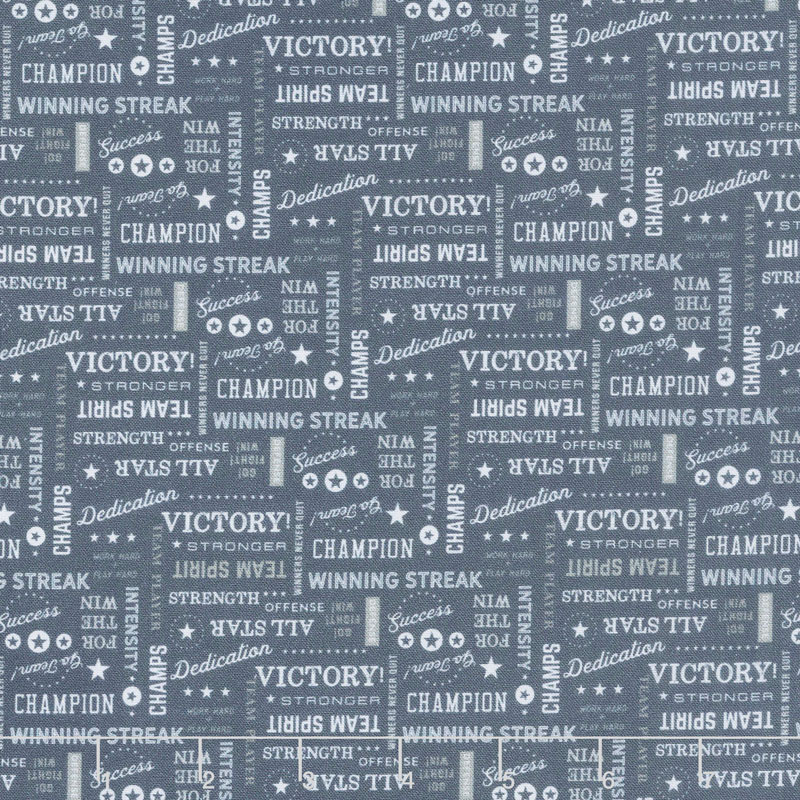 Varsity - Text Navy Yardage