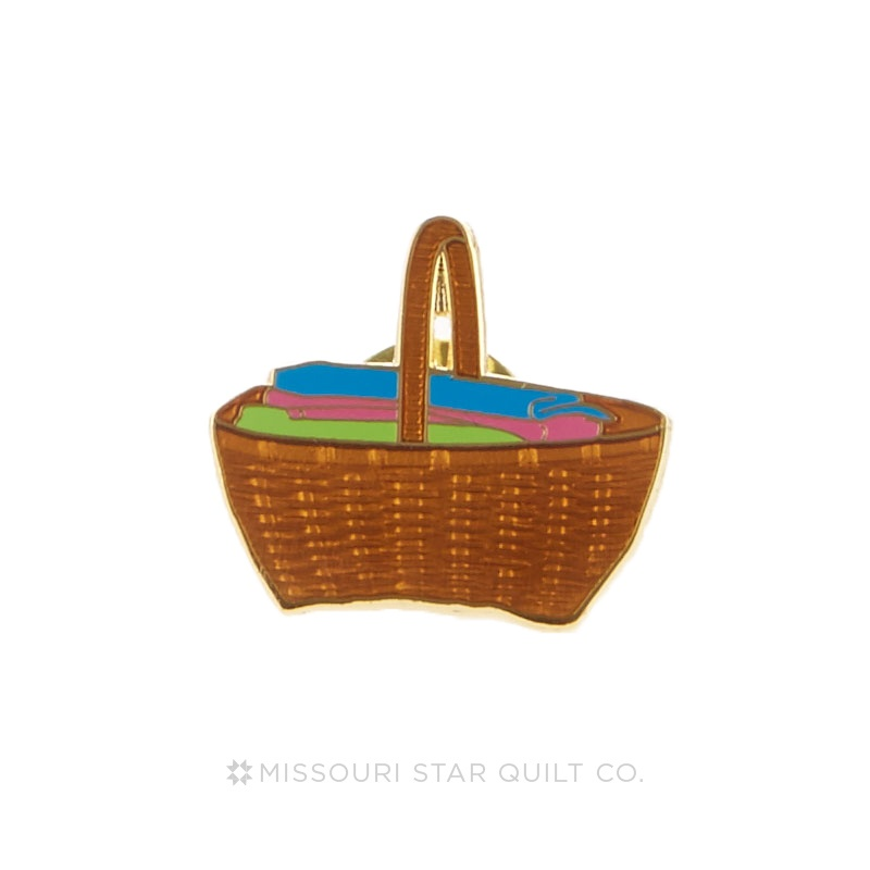 Quilter's Basket Pin by Pin Peddlers
