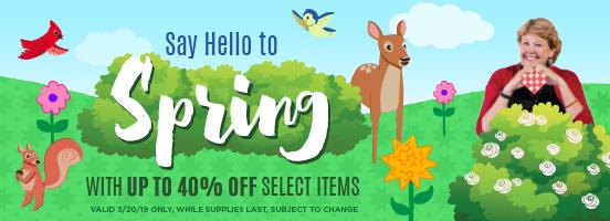 Spring Savings Sale!