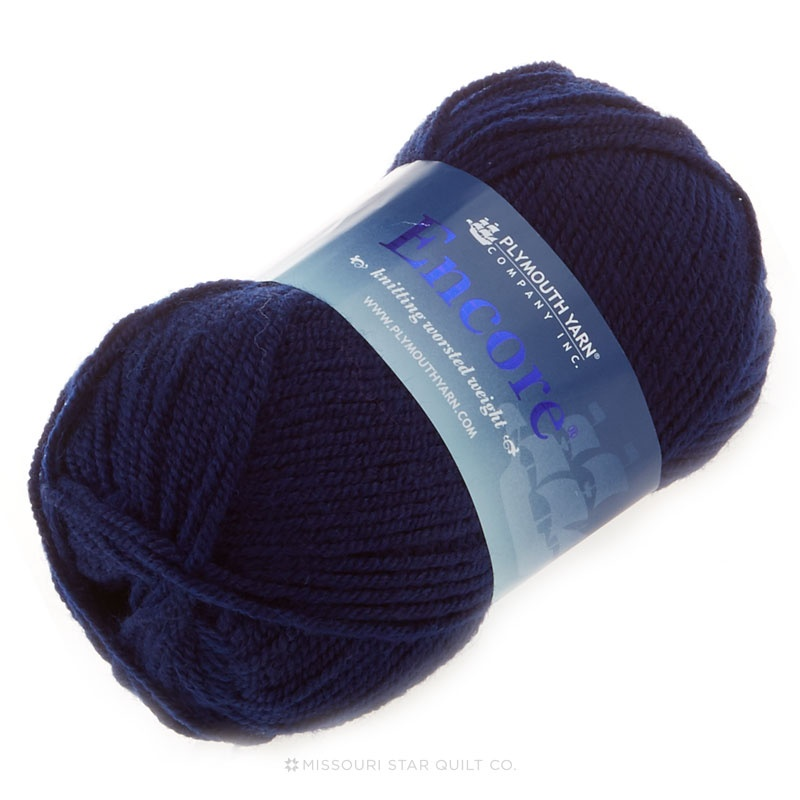 Encore Worsted Navy Blue Yarn 100g