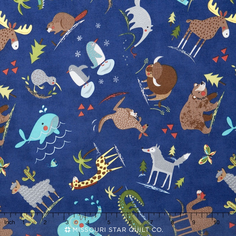 Hello World - Wild Things Navy Yardage