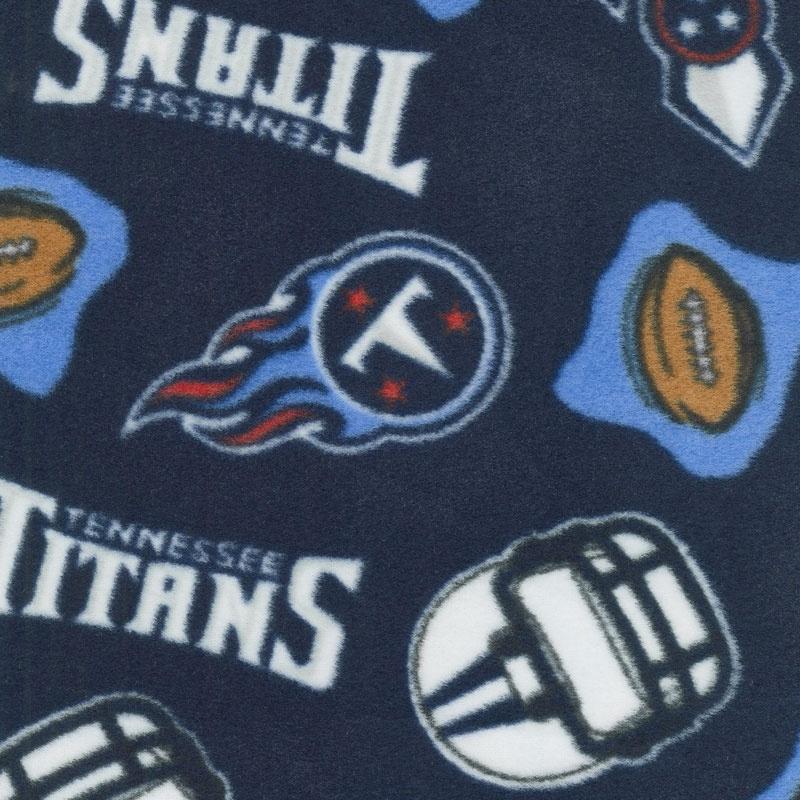 NFL Fleece - Tennessee Titans Blue Yardage