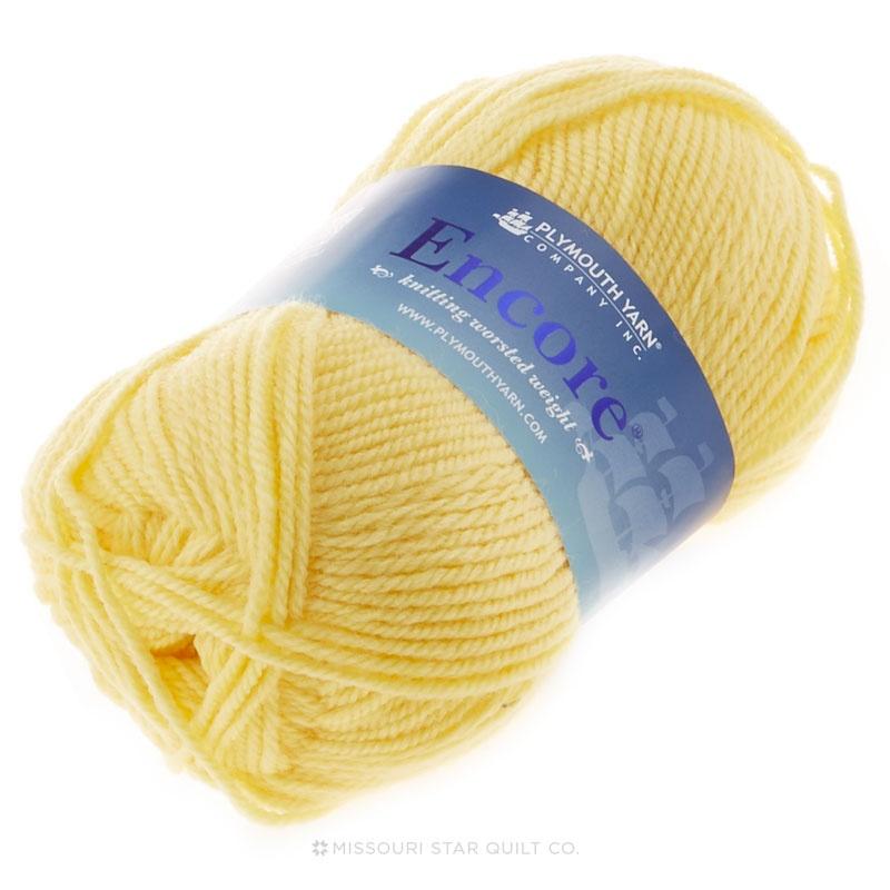 Encore Worsted Yellow Yarn 100g
