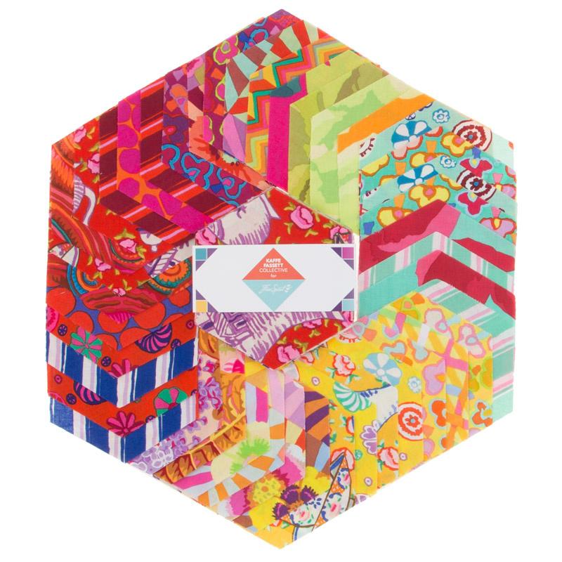 Kaffe Fassett Collective Fall 2017 - Sunrise Hexagons