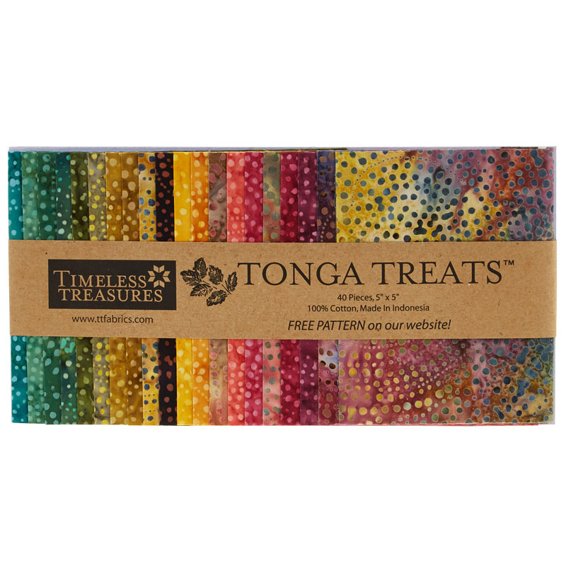 Tonga Treats Batiks - Colorwheel Forest Minis