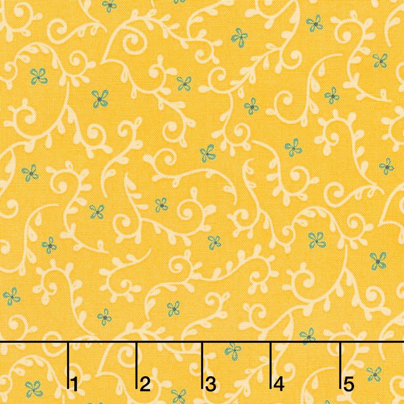 Wildflower Boutique - Vine Yellow Yardage