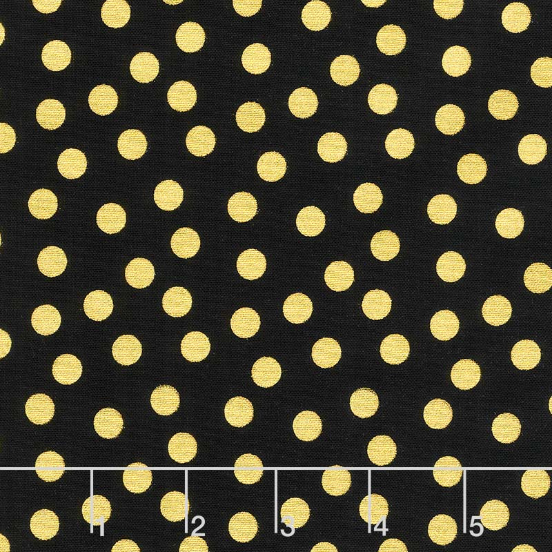 A Little Bit of Sparkle - Dot Black Metallic Yardage