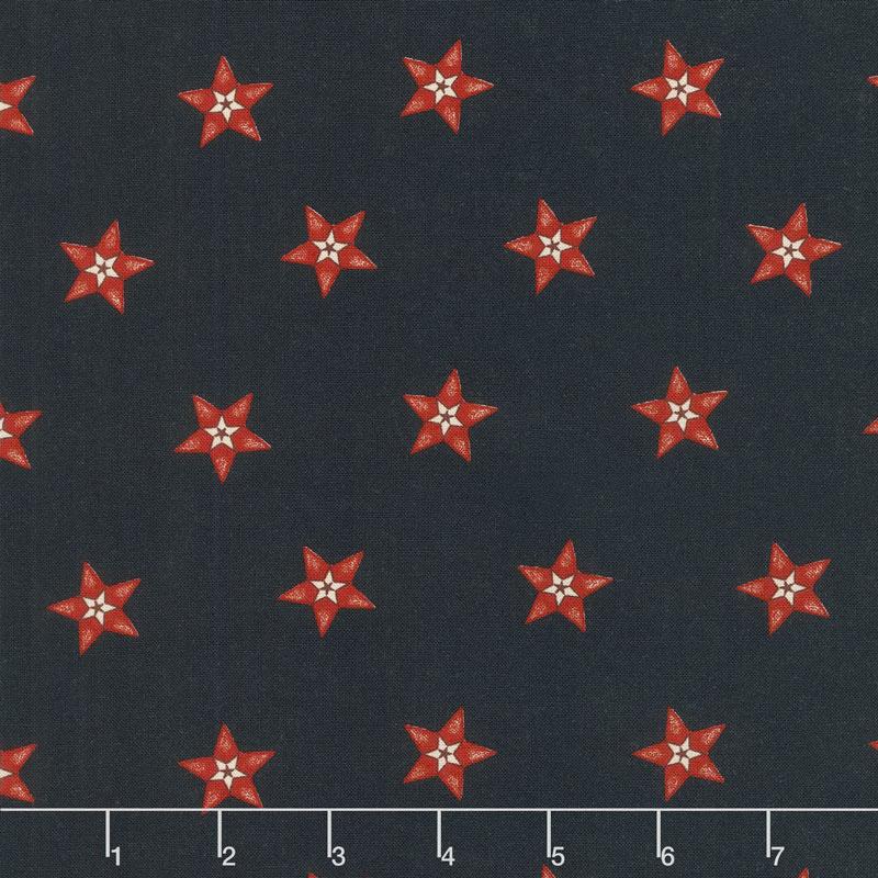 Star & Stripe Gatherings - Star in a Star Navy Yardage