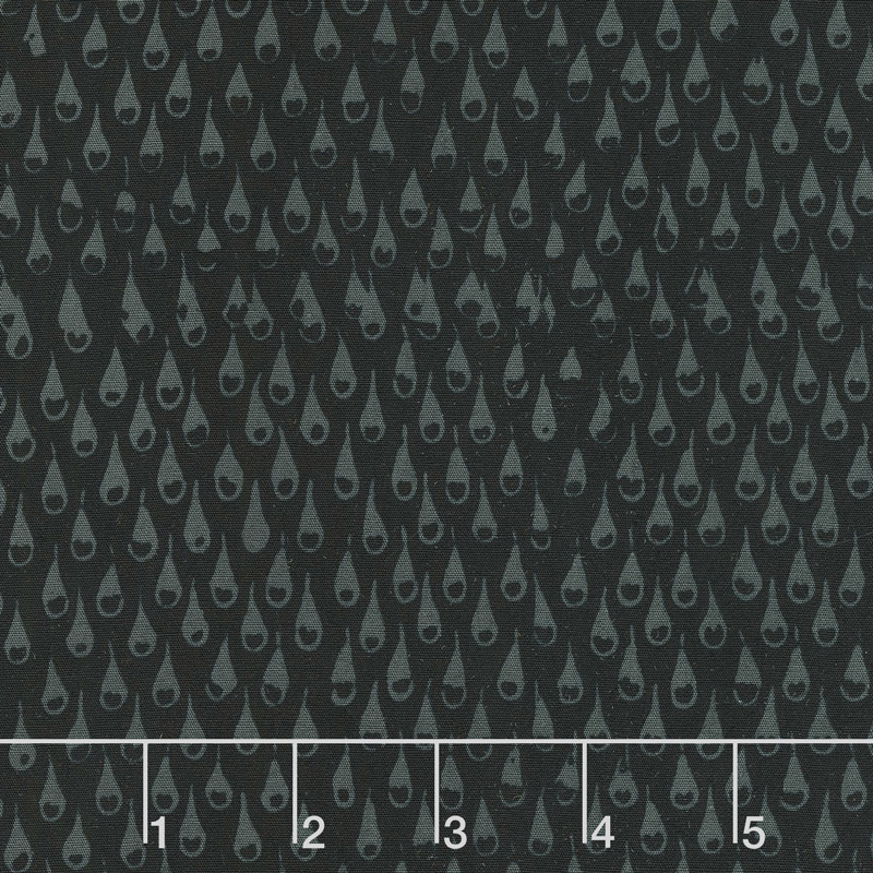 Black Beauty Batiks - Rain Black and Gray Yardage