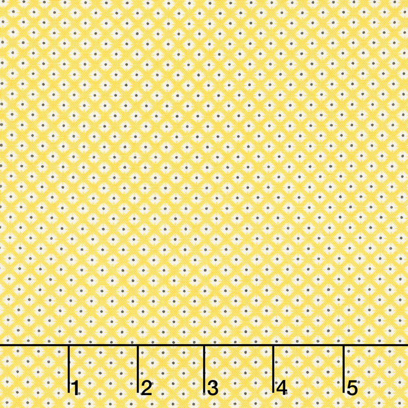 Lottie Ruth - Dotted Square Yellow Yardage