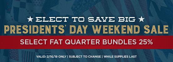 Presidents Day Weekend Sale