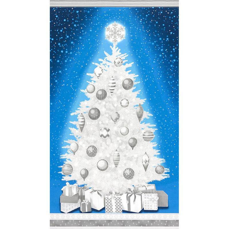 Winter's Grandeur 6 - Evening Christmas Tree Evening Metallic Panel