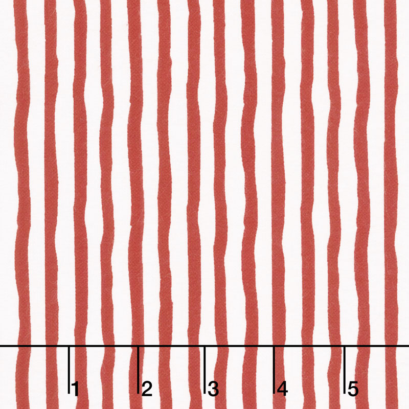 Winter Whimsy - Stripe Red White Flannel Yardage