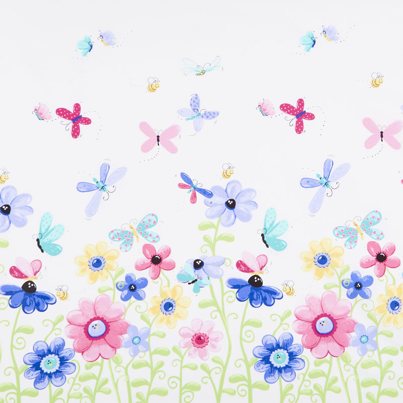 Flutter the Butterfly - Butterfly Border Print Yardage
