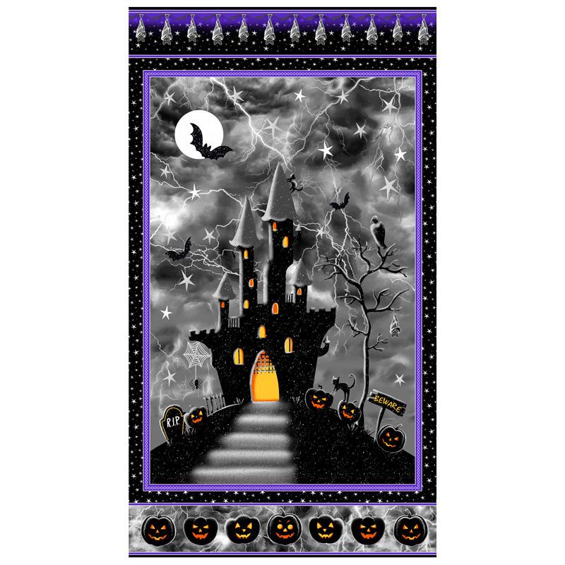 Hocus Pocus - Haunted House Black Metallic Panel