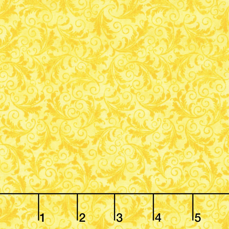 Echo - Tonal Filigree Lemon Yardage