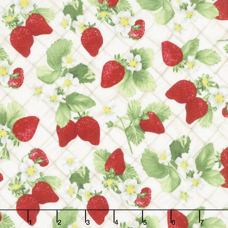 Ambrosia Farm - Berry Picking Natural Fabric Yardage