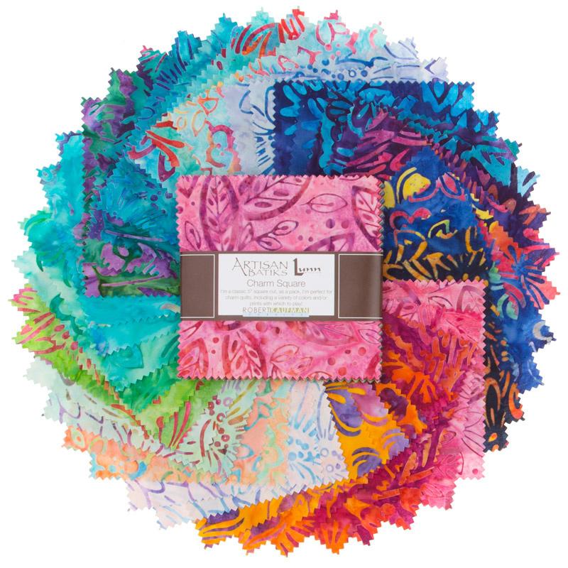 Artisan Batiks Bright Blooms Charm Pack Lunn Studios