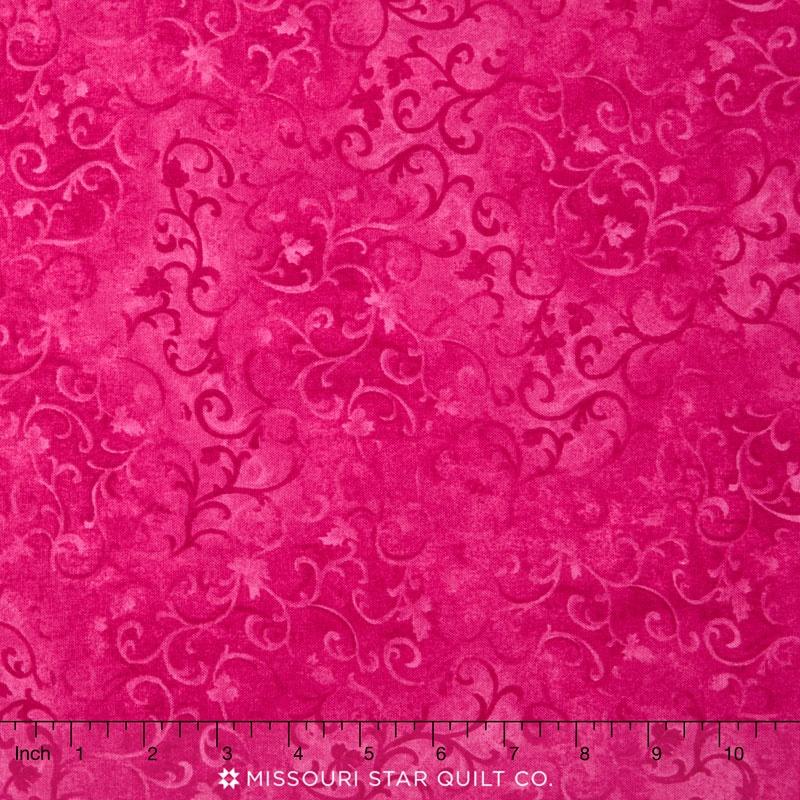 Wilmington Essentials - Pinking of You Scroll Magenta Yardage