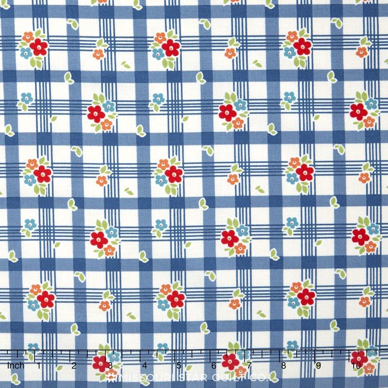 Road Trip - Tablecloth Blue Yardage