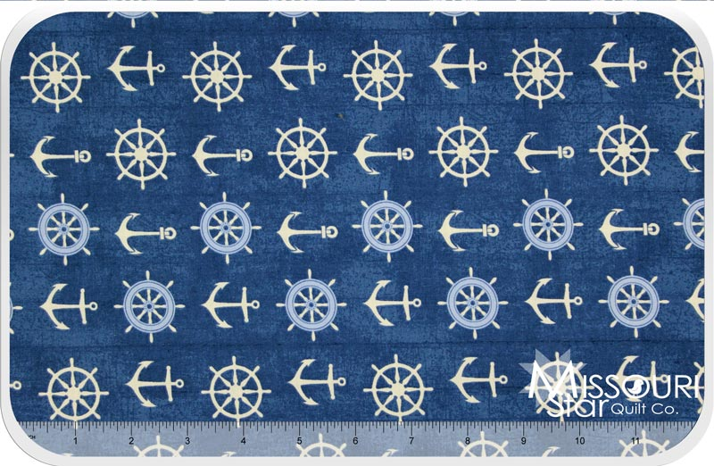Catch of the Day - Anchors Blue Yardage