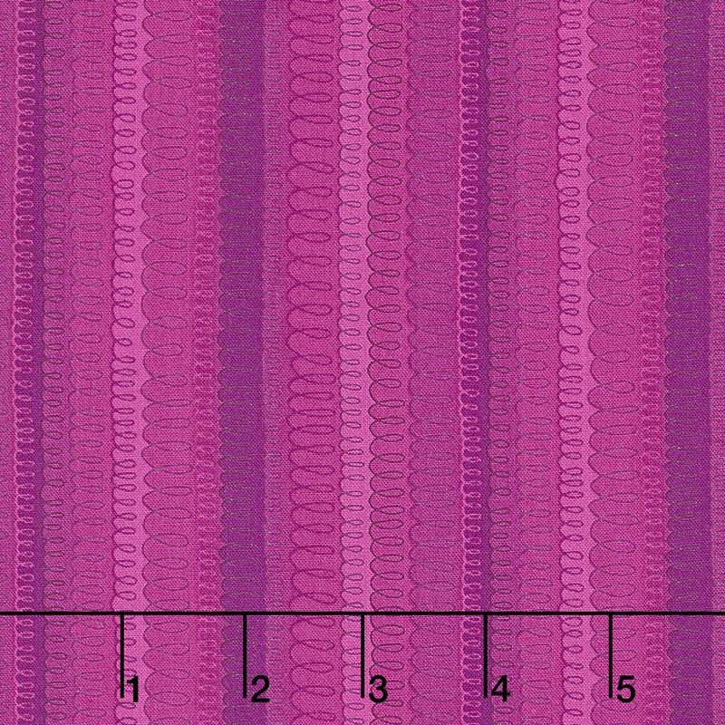 Hopscotch - Loop-de-Loop Bouganvilla Yardage