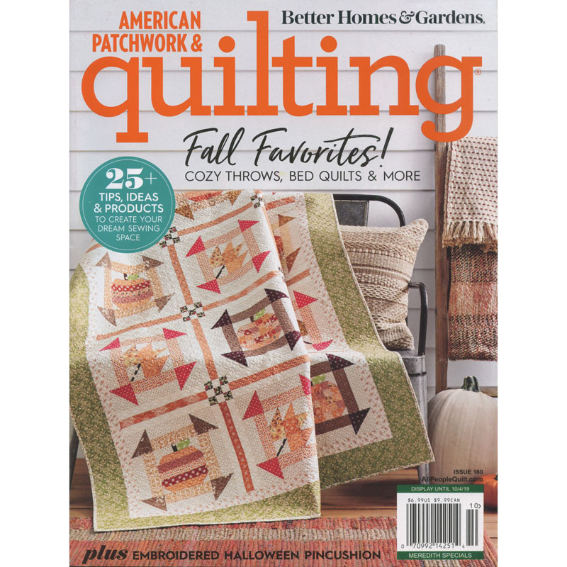 Better Homes & Gardens American Patchwork & Quilting October 2019