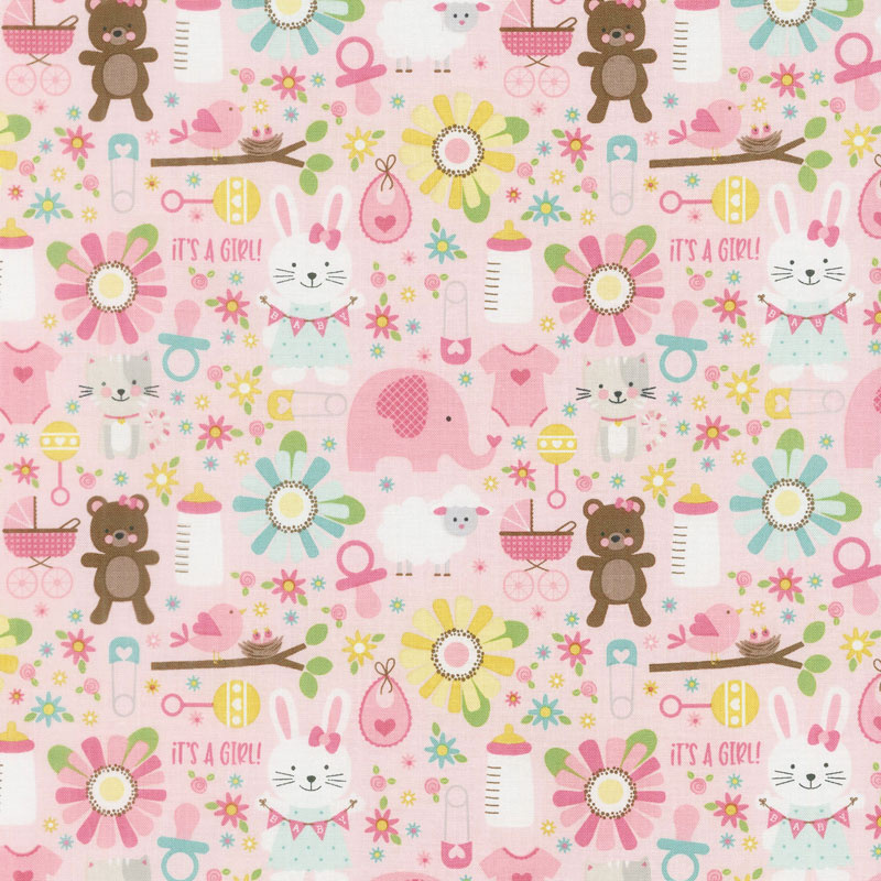 Sweet Baby Girl - Main Pink Yardage