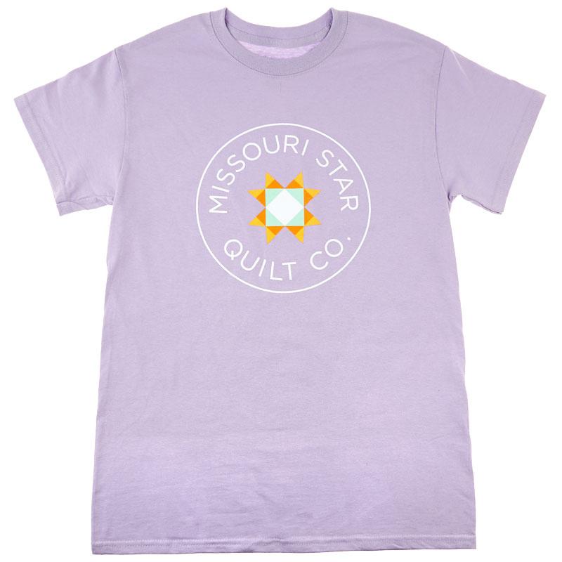 Missouri Star Circle Logo Round Neck Orchid T-Shirt - Small