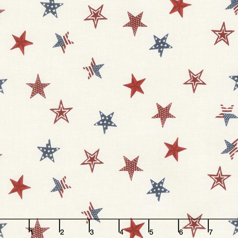 Celebrate America! - Stars Cream Yardage