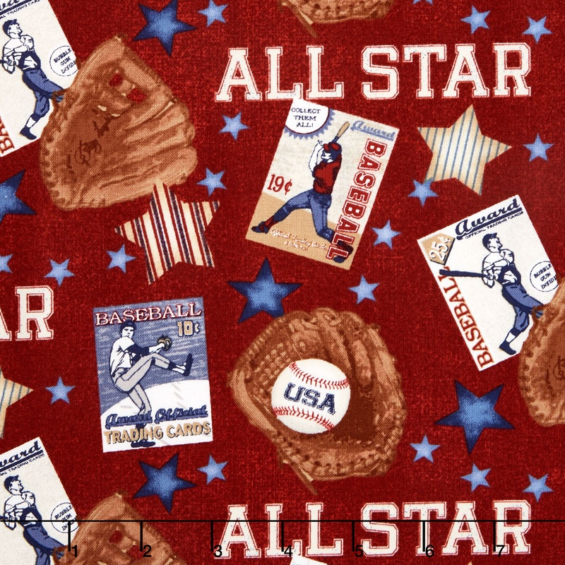 Play Ball - All Star Red Yardage