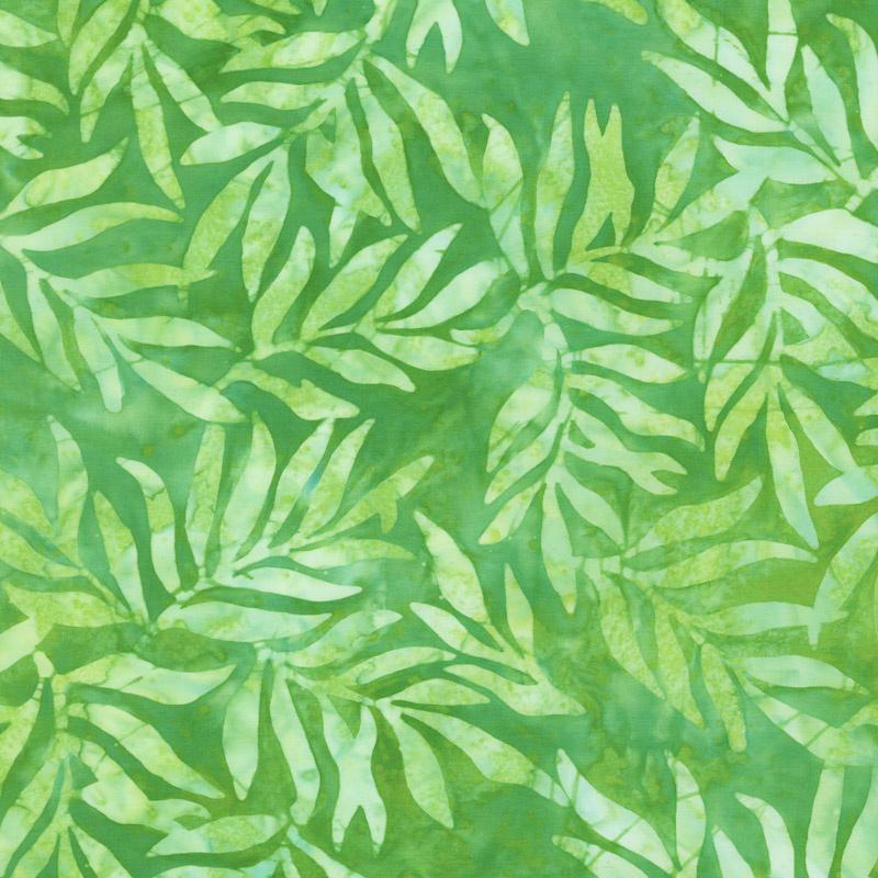 Artisan Batiks - Color Source 8 - Slender Leaves Green Yardage