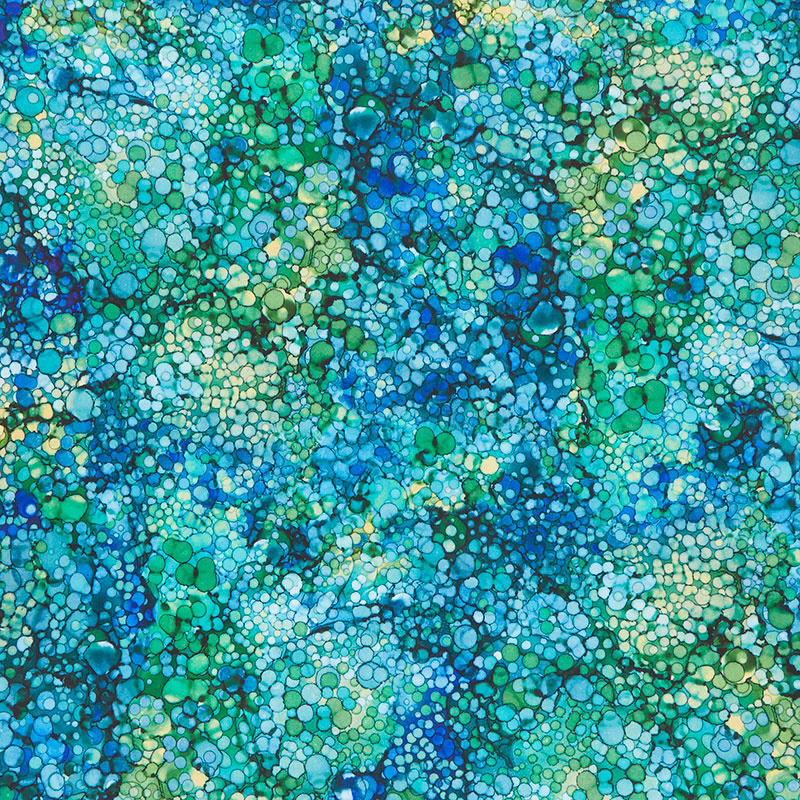 Bliss Bold and Bright - Oasis Peacock Digitally Printed Yardage