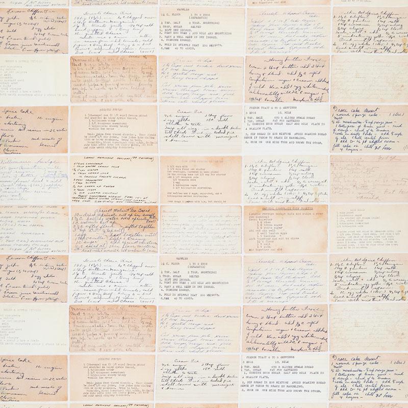 Flea Market Mix - Recipe Cards Parchment Yardage