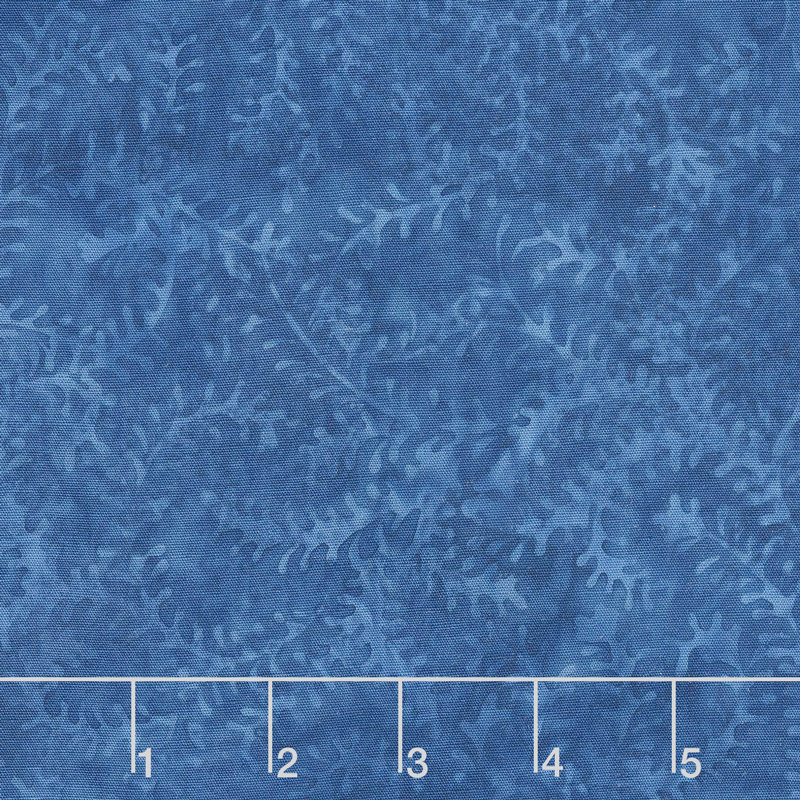 French Blue Batiks - Leaf Vine Blueberry Yardage