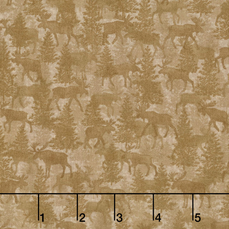Moose Lake - Moose Crossing Mocha Yardage