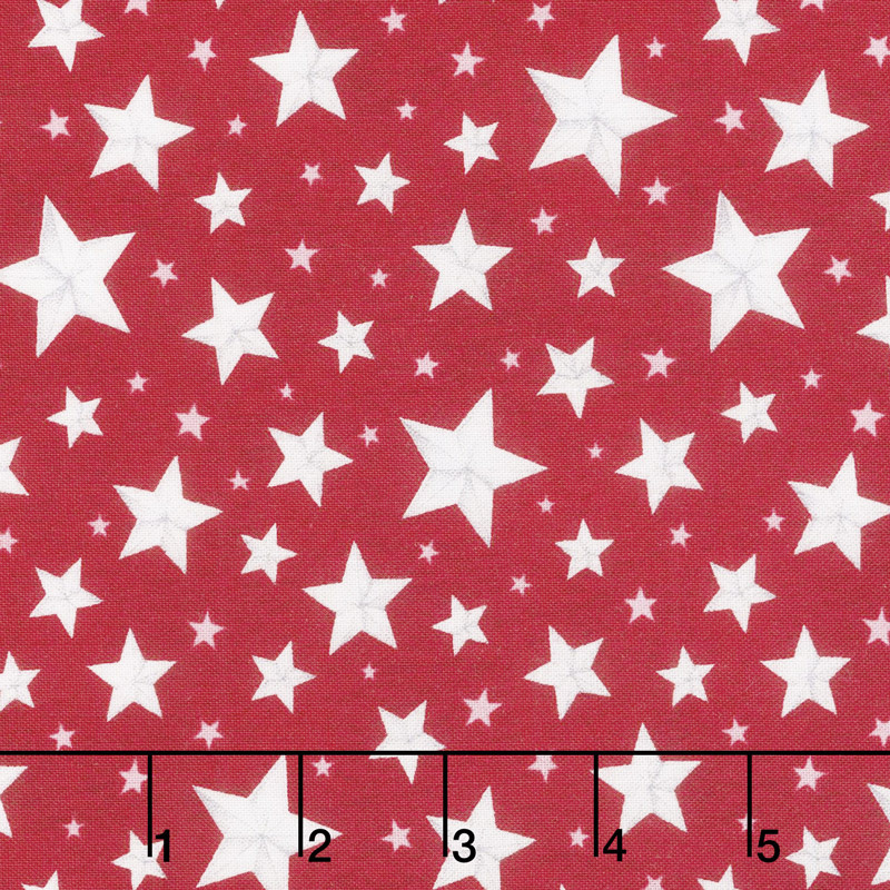 Berry Sweet - Allover Stars Red Yardage